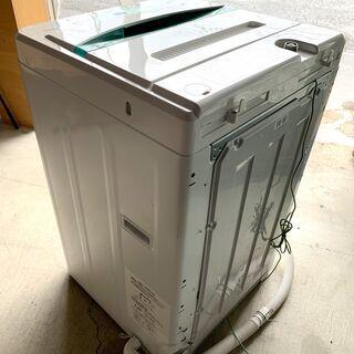 一人暮らしに最適!高年式 全自動洗濯機 4.5㎏ YAMADA YWM-T45A1 2017年製 ステンレス槽 単身用 中古  − 福井県