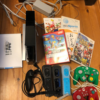 wii 本体 ゲームソフト 5個 コントローラー5個