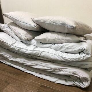 【別の出品商品からご連絡ください】セミダブル掛け布団2+枕4+カ...