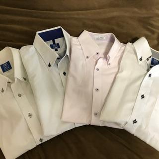 【古着-状態良】★大幅値下げ 半袖ビジネスシャツ4枚 BRICK...