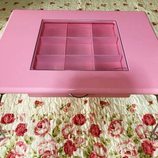 折りたたみ ガラス ディスプレイ テーブル