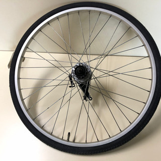 自転車26インチタイヤ リム ハブなどホィールセット後 1式