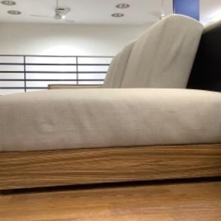 【トレファク南浦和】ソファーベッド 3人掛け アイボリー − 埼玉県