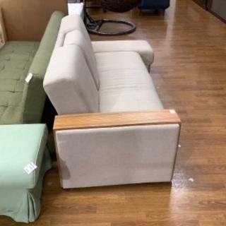 【トレファク南浦和】ソファーベッド 3人掛け アイボリー - 家具