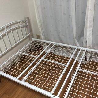 【美品】【無料】シングルベッドフレームのみ - 家具