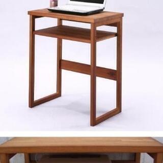 【天然木】ミニデスク★パソコン台★木製★コンパクト★作業台