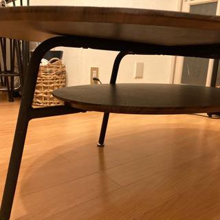 【ネット決済】楕円形木目ローテーブル譲ります。