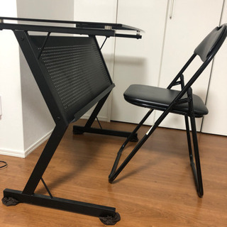 パソコンデスク、パイプ椅子