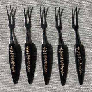 ティータイム和菓子用フォーク5本セット中古 - 名古屋市