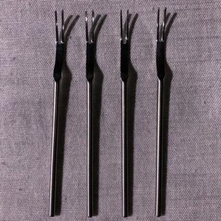 ティータイム用洋風フォーク4本セット 中古 - 名古屋市
