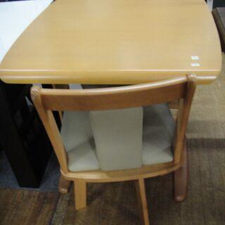 ダイニング3点セット チェア回転式 食卓セット 食卓テーブル