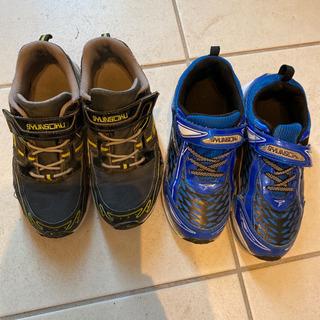 瞬足 スニーカー 22cm と22.5cm 運動靴 二足セット