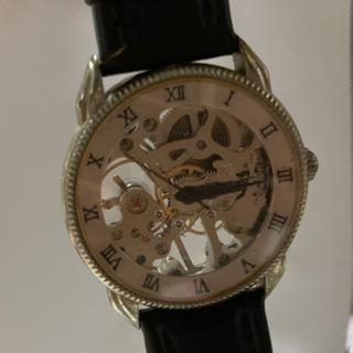 スケルトン機械式腕時計