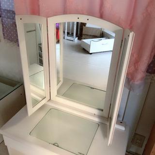 三面鏡ドレッサー 座卓(椅子なし) ロータイプ  鏡台の画像