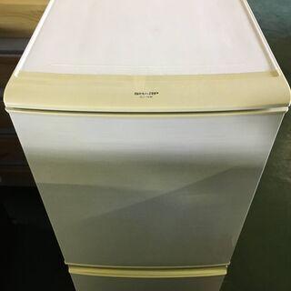 冷蔵庫 シャープ SJ-14W-W