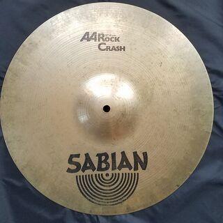 "SABIAN セイビアン AA ROCK CRASH シンバル【16""/41cm】ジャンク品 直径 41cm 16インチ ドラムの画像"