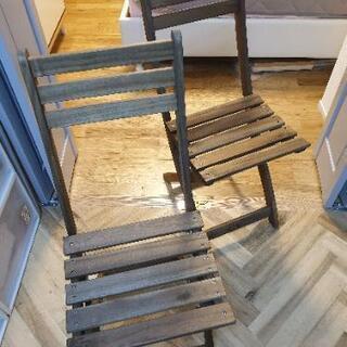 IKEA 折りたたみ チェア 2脚セット