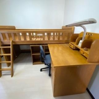 学習机付きベッド売ります(イスもどうぞ)