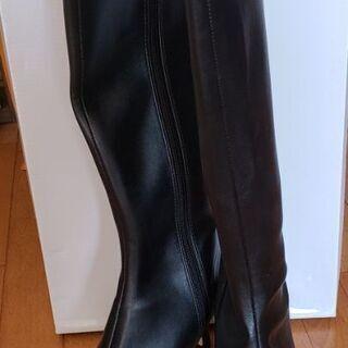 未使用 黒いロングブーツ Mサイズ