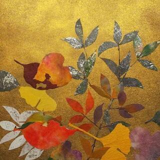 🍁【和紙画教室】🍁和紙を使って色紙へ[秋]を作る