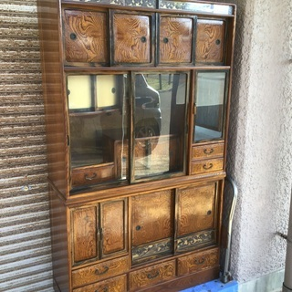 昭和レトロ 茶箪笥 茶道具 指物師