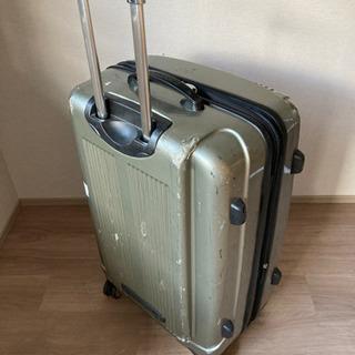 500円 中古スーツケース(シルバー)