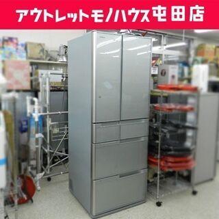 大型 冷蔵庫 6ドア 517L 2014年製 自動製氷機能 真空...