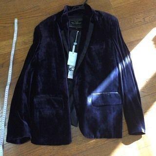 【順次値下げ中】ベロアジャケット 紺~紫 光沢 Sサイズ 細身 ...
