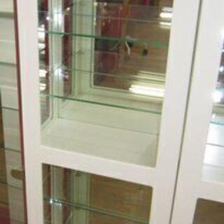 R066 スリムコレクションケース 6段ガラス棚 幅40cm