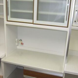R097 ユーアイ製 食器棚・レンジボード 幅89cm 高さ21...