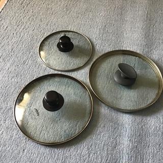 【ネット決済・配送可】鍋蓋3枚セット 美品 使用少なし