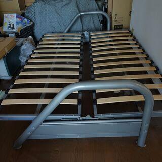 イタリア家具 ダブルベッド ソファーベッドのフレーム