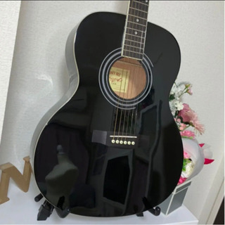 【ネット決済・配送可】アコースティックギター アコギ ブラック ...