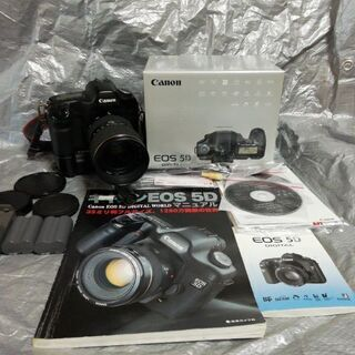 Canon eos5D(初代) バッテリーグリップ レンズセット...