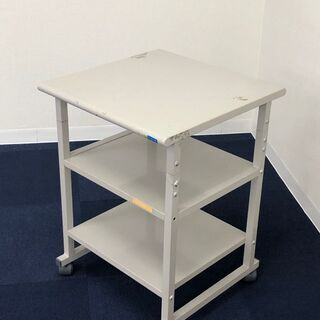 キャスター付き 小型サイドテーブル 事務用テーブル