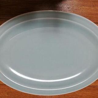 青磁 楕円形 大皿 2点+1点