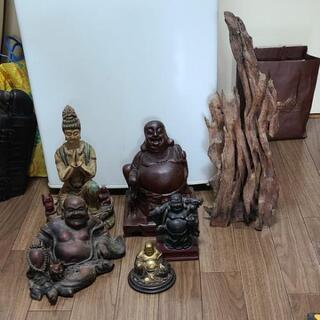 大幅値下げ仏像6体と流木飾り