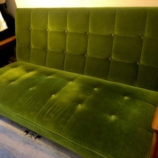 【値下げ】カリモク60 Kチェア 2シーター モケットグリーン - 家具