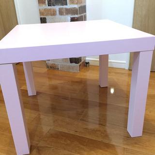 イケア購入 サイドテーブル ピンク 中古 譲ります