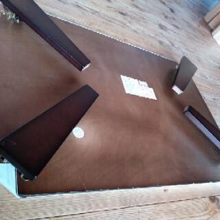 [配達無料][即日配達も可能?]折り畳みテーブル ニトリ製 天板リメイクシート張り - 名古屋市