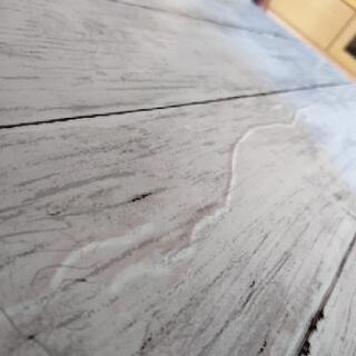 [配達無料][即日配達も可能?]折り畳みテーブル ニトリ製 天板リメイクシート張り - 売ります・あげます