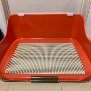 犬用トイレトレー オレンジ