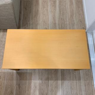 【無印良品】 ローテーブル 机 茶色 美品 - 家具