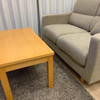 【無印良品】 ローテーブル 机 茶色 美品の画像
