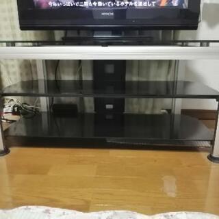 ガラス製テレビ台 - 宇都宮市
