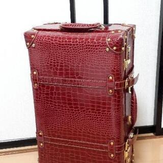 クラシックデザインキャリーバッグ キャリーケース 赤 ワインレッド
