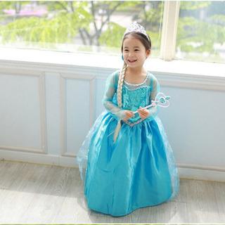 【ネット決済・配送可】アナ雪 エルサ ドレス 120cm