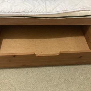 ベッド下に置く引き出し 2個
