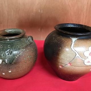 梅柄の花瓶・壺 2つで(1つの場合500円)