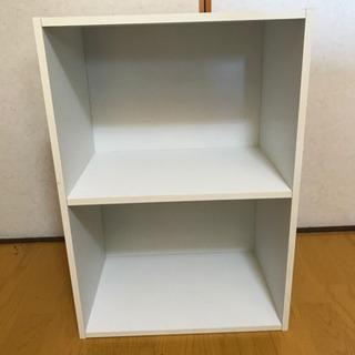 カラーボックス ホワイト 2段
